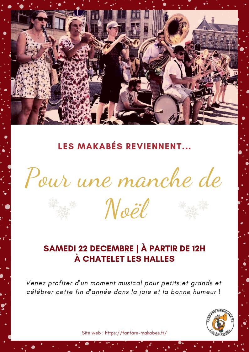 Évènement : manche de Noël samedi 22 décembre à Châtelet les Halles
