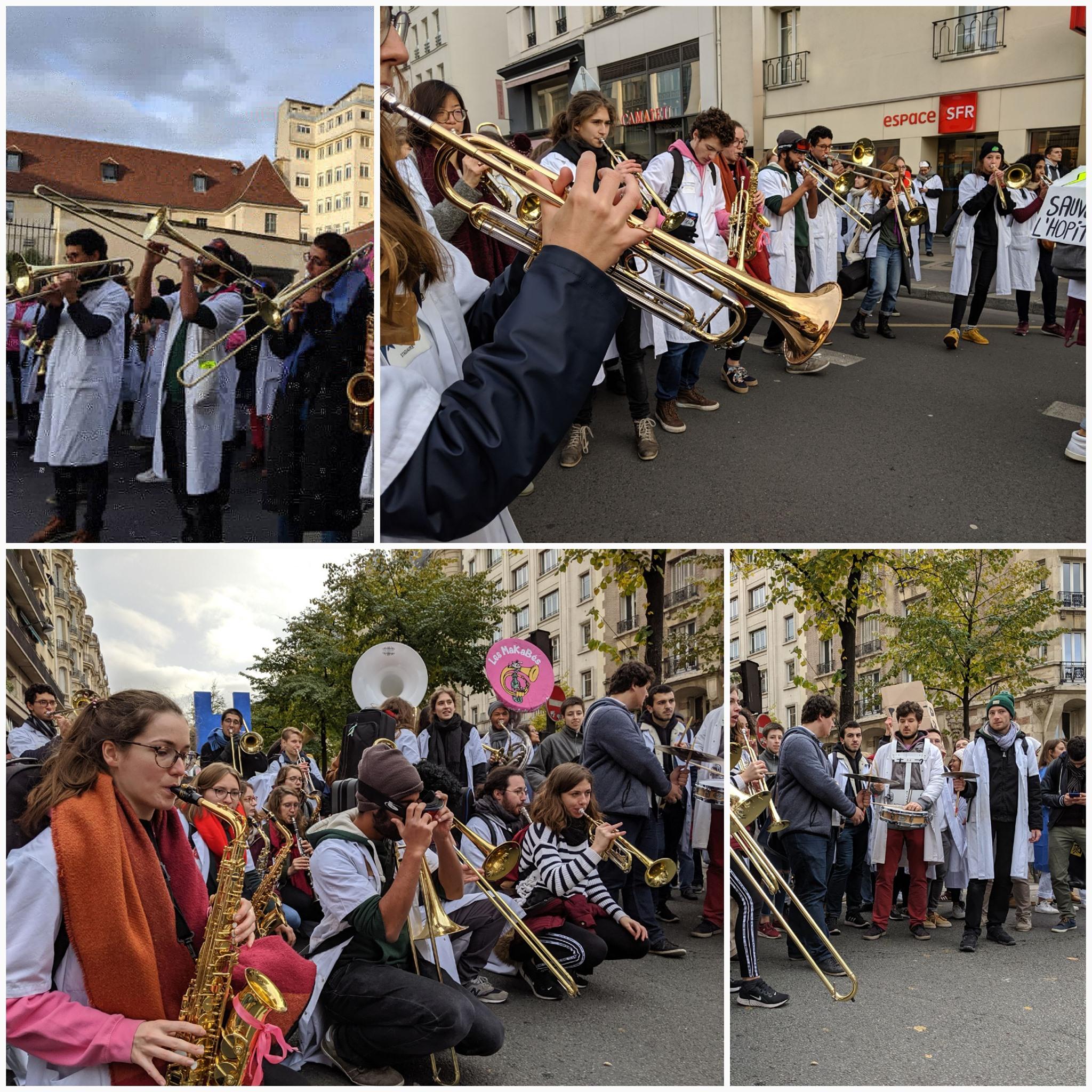 Les MaKaBés à la manifestation du 14 novembre pour la sauvegarde de l'hôpital public.