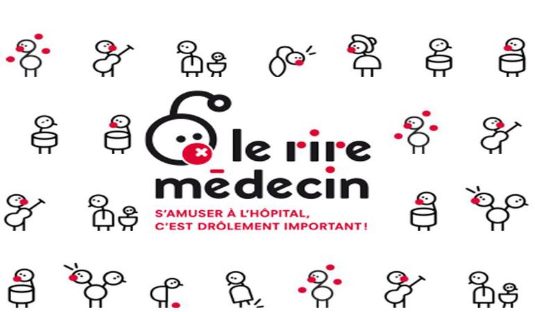 """Logo de l'association que nous avons soutenu lors de ce projet, """"Le rire médecin"""""""
